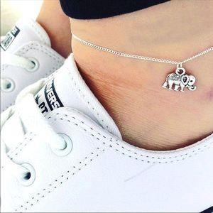 Dainty Gold Elephant Ankle Bracelet